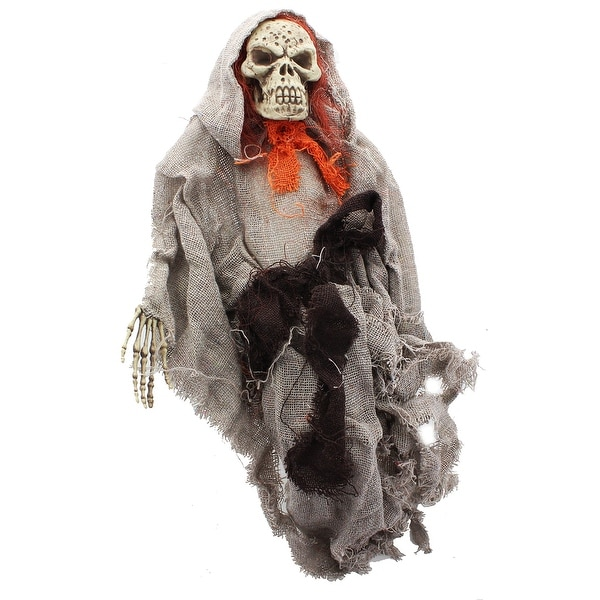 "Hanging Ghoul 20"" Grey Robe/Red Bow Tie"