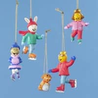 Set of 5 Arthur and Friends Mini Christmas Ornaments