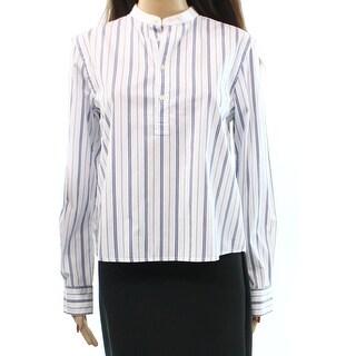 Polo Ralph Lauren NEW White Blue Women's Size 4 Striped Button Blouse