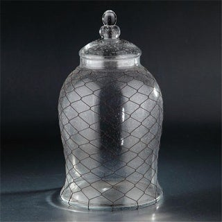 Diamond Star 64583 21 x 12 in. Glass Jar with Lid, Clear