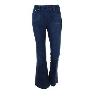 Style & Co. Women's Low Rise Flare Leg Knit Jeans - punk