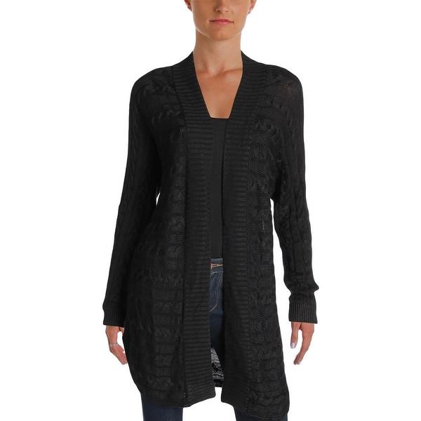 7684dc3ffd Shop Ralph Lauren Womens Cardigan Sweater Cable Knit Open Front ...