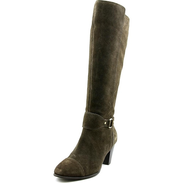 Giani Bernini Cagney Women Round Toe Suede Green Knee High Boot