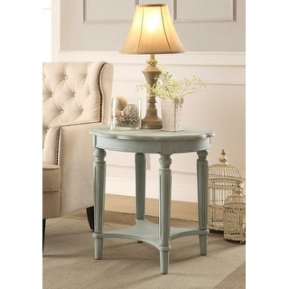 End Table In Antique Green - Mdf, Solid Wood Leg Antique Green