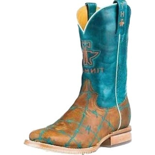 Tin Haul Western Boots Womens Barb Wire Horse Tan