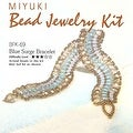 Create Your Own Miyuki Glass Bead Bracelet Kit - Blue - Thumbnail 0