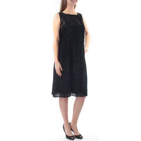 ALFANI Womens Black Sleeveless Knee Length Shift Dress Size 6