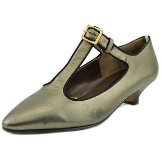 Marni Expo Pointed Toe Leather Flats