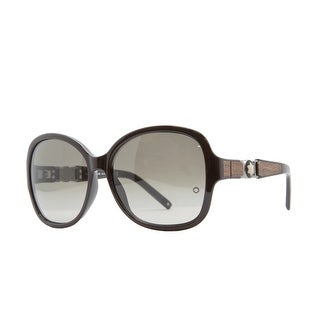 Mont Blanc MB 420/S 48F Brown Oversized Sunglasses