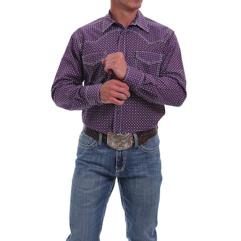 Cinch Western Shirt Men Long Sleeve Snap Contrast Topstitch