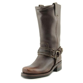 Frye Belted 12R Square Toe Leather Mid Calf Boot
