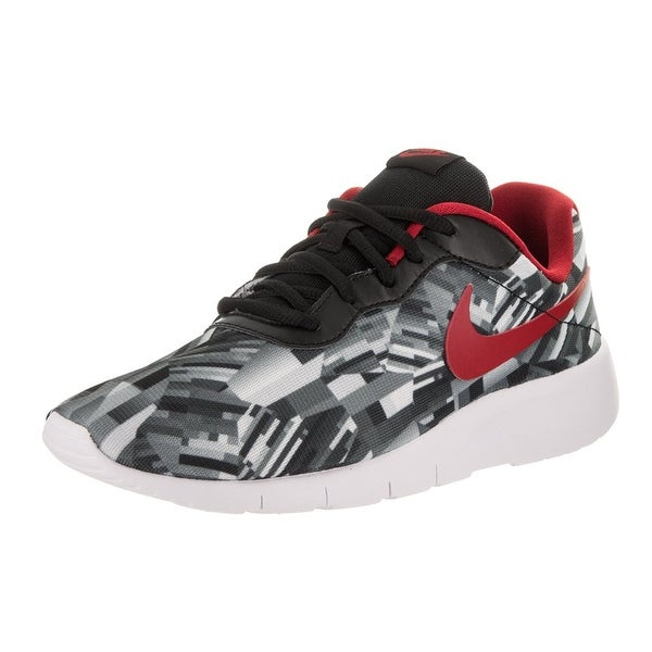 negozio nike bambini tanjun print (gs) lupo grigio / palestra red black white