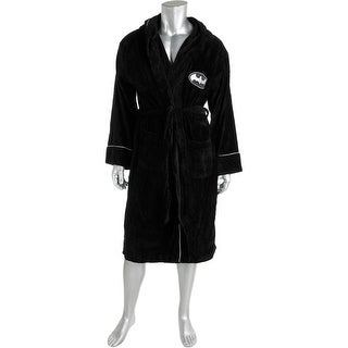 DC Comics Mens Hooded Embroidered Long Robe - o/s
