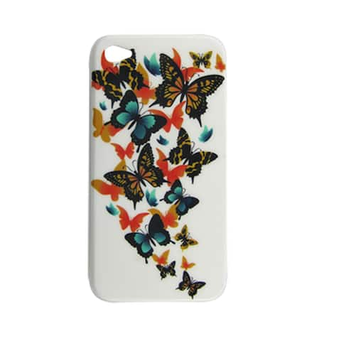 Hard Plastic Butterfly Back Case Cover for iPhone 4 4G