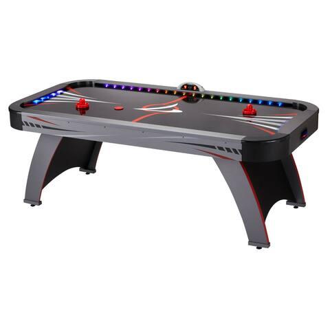 Fat Cat Volt LED Illuminated Air-Powered Air Hockey Table / Model 64-3014 - Black