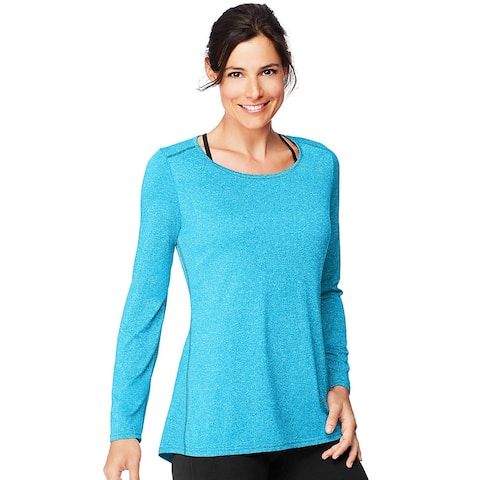 Hanes Sport Women's Performance Long-Sleeve Tunic - Color - Underwater Blue Heather - Size - L
