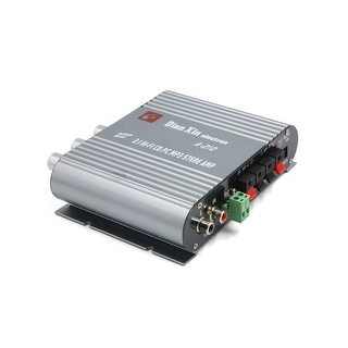Silver Tone Mini Hi-fi Stereo Audio Power Amplifier for Car Auto Motorcycle