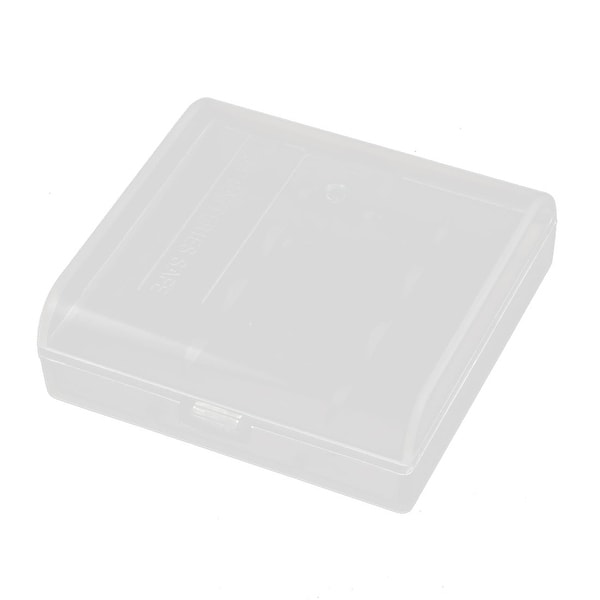 Transparent Storage Case Plastic Battery Holder Organizer for R6 AA Batteries