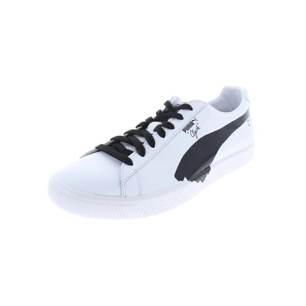 san francisco cfb62 62347 Shop Puma Womens Clyde SM Athletic Shoes Leather Printed ...