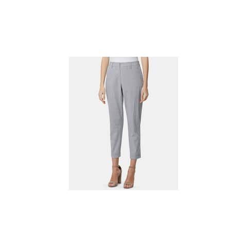 TAHARI Womens Light Blue Striped Wear To Work Pants Size 8