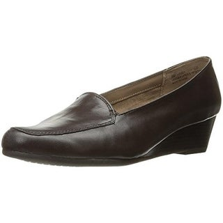 Aerosoles Womens Lovely Leather Wedge Loafers