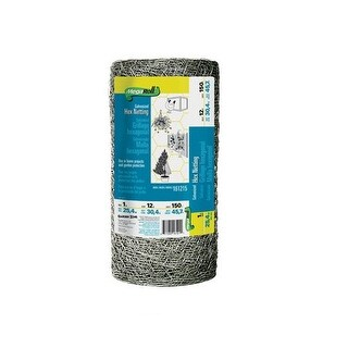 "Garden Zone 161215 Poultry Netting, 20 Guage, 12"" x 150'"
