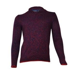 Nautica Men's Shawl Collar Marled Sweater (XL, Ribbon Red)