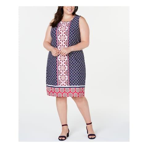 CHARTER CLUB Pink Sleeveless Knee Length Shift Dress Size 1X