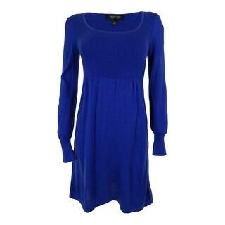 Spense Women's Long Sleeve Ribbed Sweater Dress