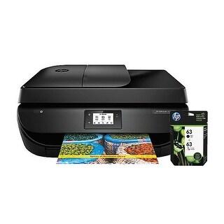 HP OfficeJet 4650 AIO Printer w/ 63 Ink Cartridge - Black, Tri-Color Business Printer