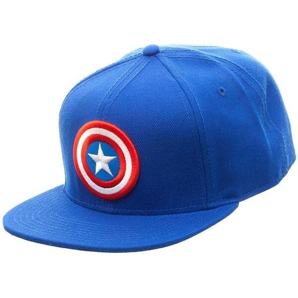 3c943341b587c Shop Marvel Comics Captain America Licensed Logo Adjustable Snapback ...