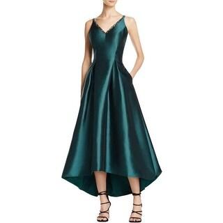 Carmen Marc Valvo Womens Party Dress Sleeveless High-Low