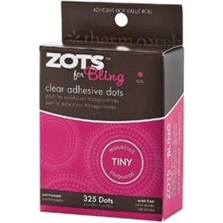 "Bling Tiny 1/8"" 325/Pkg - Zots Clear Adhesive Dots"