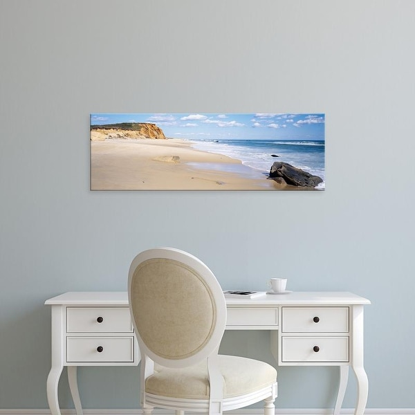 Easy Art Prints Panoramic Image 'Rocks, Lucy Vincent Beach, Chilmark, Martha's Vineyard, Massachusetts' Canvas Art