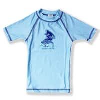 Azul Boys Light Blue Short Sleeve Solid UPF 50+ Rash Guard