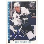 Neil Wilkinson San Jose Sharks 1993 Score Autographed Card This item comes with a certificate of a