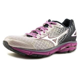 Mizuno Wave Rider 19 Women D Round Toe Synthetic Purple Running Shoe