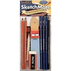 SketchMate Charcoal & Graphite Drawing Kit-