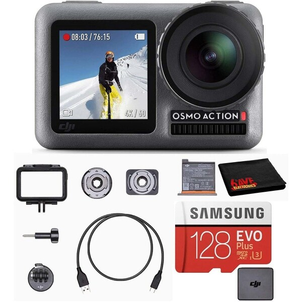 DJI Osmo Action Cam Digital Camera Bundle Waterproof 4K HDR + 128GB. Opens flyout.