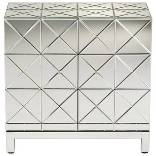 Cyan Design Adonis Cabinet Adonis 34.25 Inch Tall Wood and Mirrored Glass Cabinet