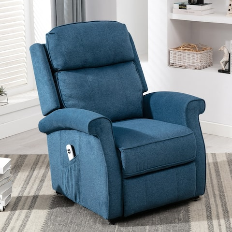 Lancaster Cadet Blue Traditional Lift Recliner Chair by Greyson Living
