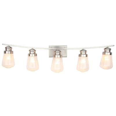 5 Light Vanity lighting in Brushed Nickel Finish