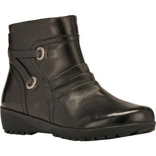 Walking Cradles Women's Zuri Bootie Black Nappa Leather
