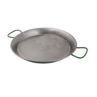 World Cuisine A4172460 Polished Carbon Steel 23.625 Inch Paella Pan
