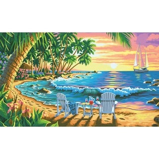 """Paint Works Paint By Number Kit 16""""X20""""-Sunset Beach"""