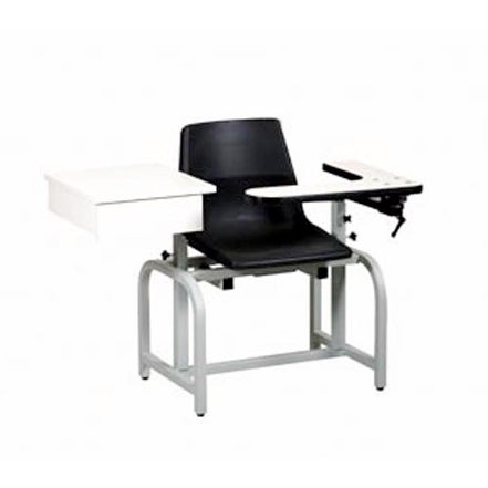 Shop Pro Advantage Blood Draw Chair   Flip Arm   Drawer U0026 Plastic Seat    Free Shipping Today   Overstock.com   19311955