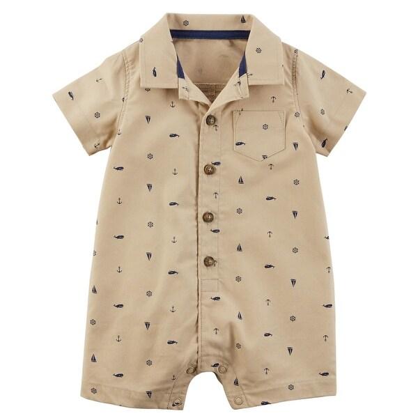 f3f75048b Shop Carter s Baby Boys  Schiffli Print Snap-Up Cotton Romper