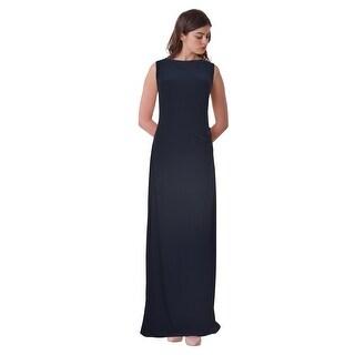 Lauren Ralph Lauren Sequin Draped Back Jersey Evening Gown Dress