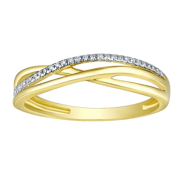 Prism Jewel 0.75MM 0.05CT Round Natural G-H/I1 Diamond Light Weight Fancy Ring - White G-H