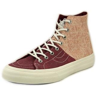 Vans SK8-Hi Decon SPT Women Round Toe Canvas Burgundy Sneakers
